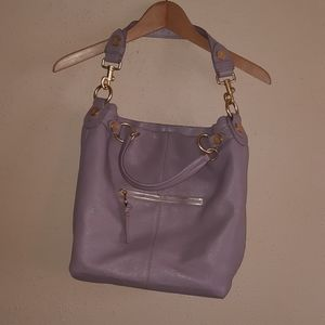 George, Gina, Lucy Lilac Leather Purse